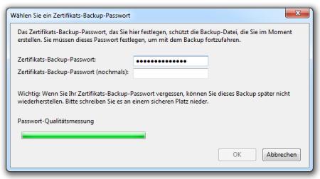 Bild 11: Eingabe des Passworts für die Zertifikatsdatei