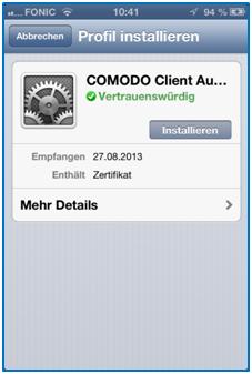 Bild 16: Das Comodo Zertifikat ist Vertrauenswürdig