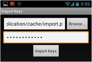 Abbildung 16: Speicherort und Datei-Passwort eingeben
