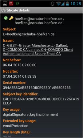 Abbildung 21: Zertifikatdetails