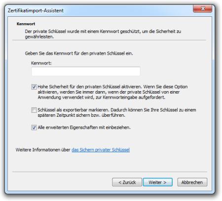 Bild 5: Passwort eingeben