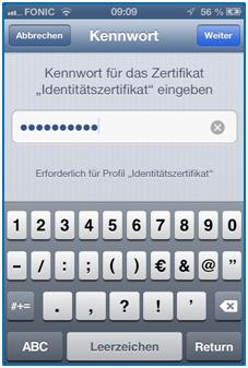 Bild 6: Passwortabfrage für die verschlüsseltet Datei