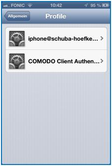 Bild 20: Profile auf dem iPhone