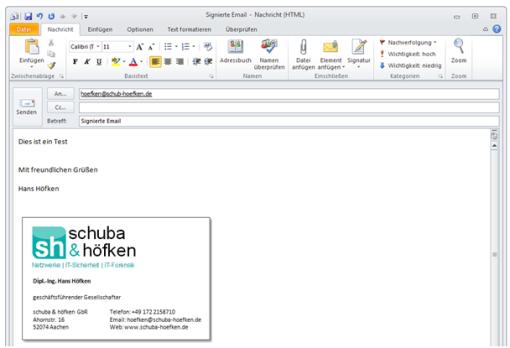 Bild 1: Erstellen einer neuen Email