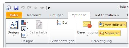 Bild 14: Email signieren und verschlüsseln
